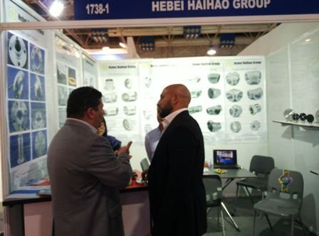 clients-visiting-haihao-group-pipe-fitting-booth