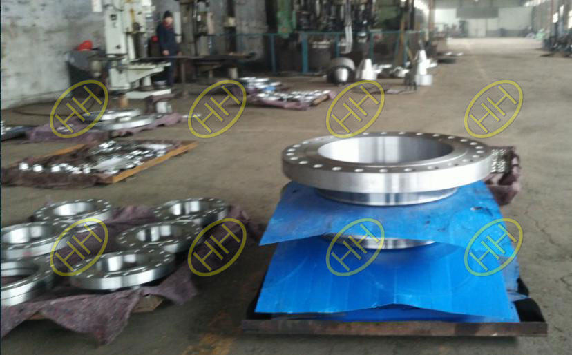 Haihao Flange Factory Finished High Pressue and Large Size Flanges On Time