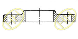 JIS B2220 Slip On Hubbed Flange Products Drawing