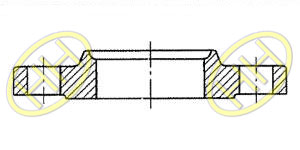 JIS B2220 Slip On Hubbed Flange Type A Drawing