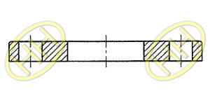 JIS B2220 Slip On Plate Flange Products Drawing