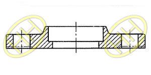 JIS B2220 Socket Weld Flange Products Drawing