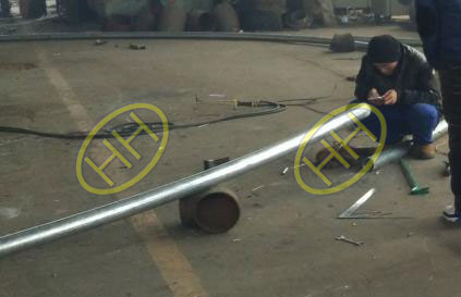 Haihao Group finished the 50D radius pipe bends used for steel structure