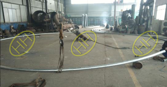 50D Radius Pipe Bend Used For Steel Structure In Haihao Group