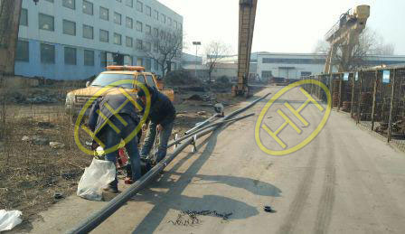 Natural gas pipeline installing in Haihao Flange Factory