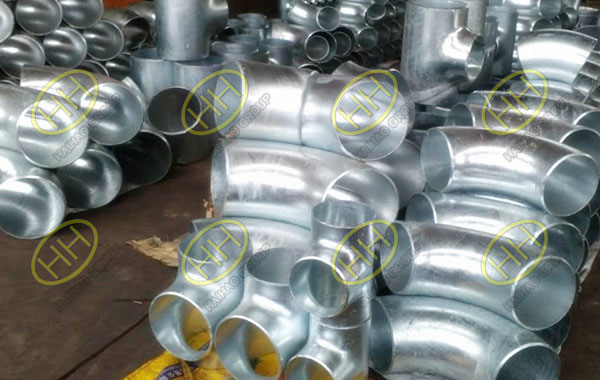 Cold galvanized 90 degree pipe elbows finished in Haihao Group