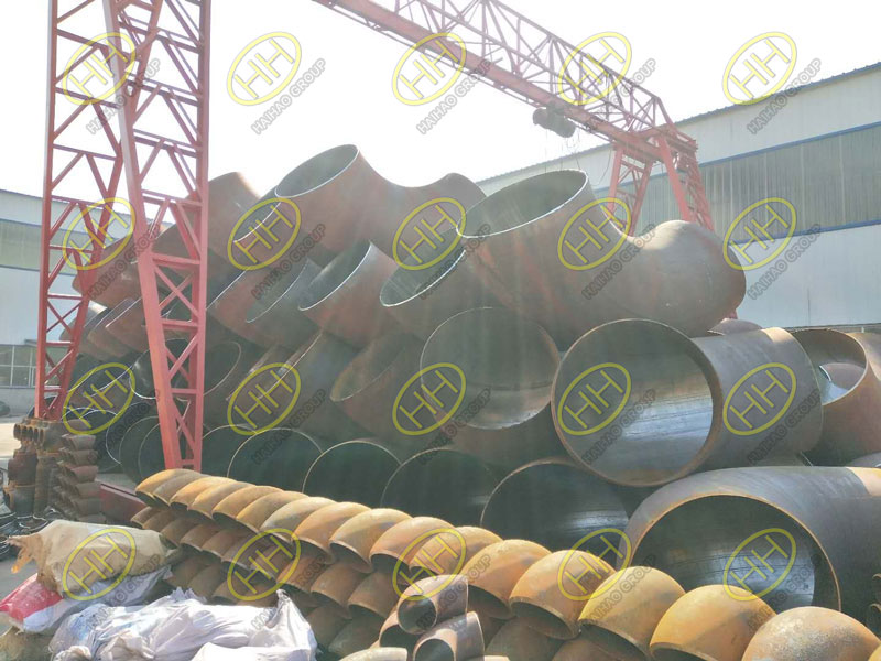 Large-diameter automatic welding elbows finished in Haihao Group