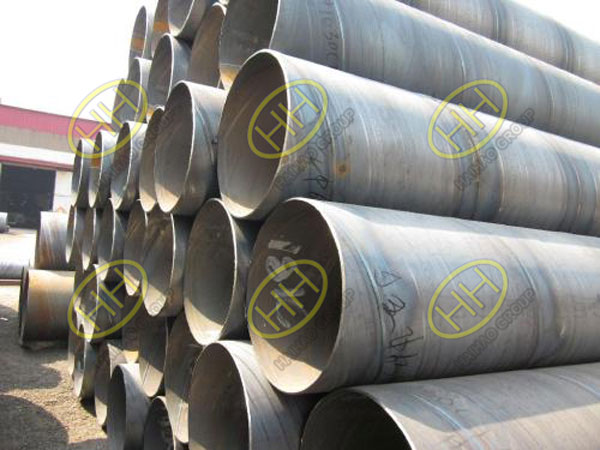 Spiral welded steel pipe production process