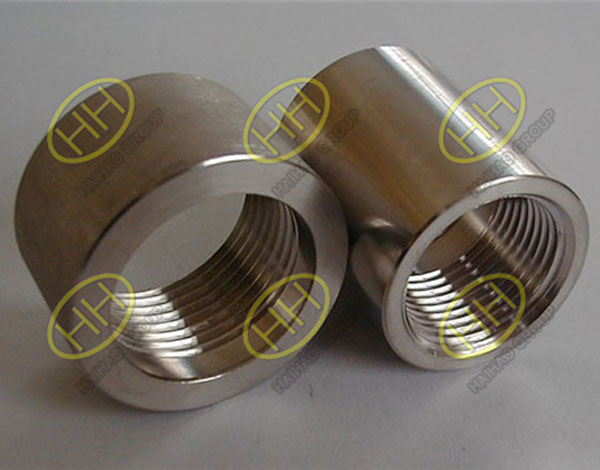 ASME B16.11 A182 F304 Threaded Half Couplings
