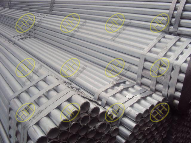 Cold galvanized steel pipes