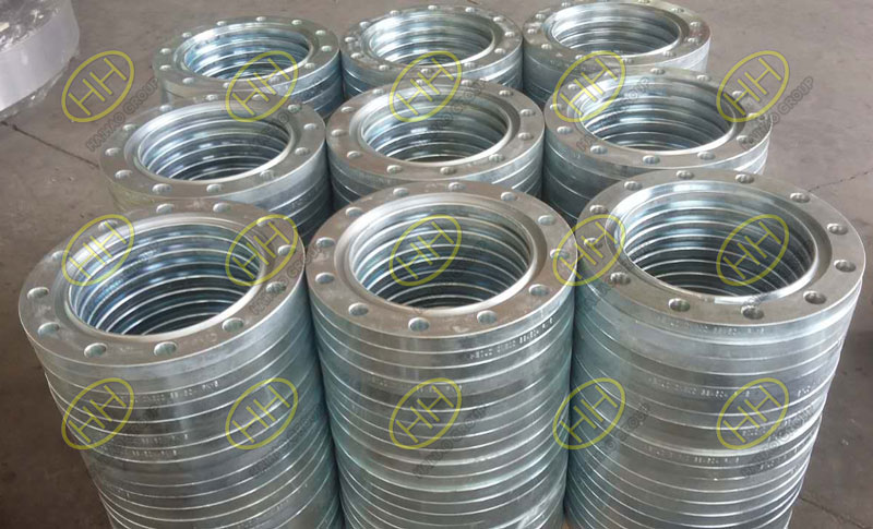 Cold galvanized slip on flanges finished in Haihao Group