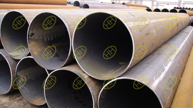 Double surface straight seam submerged arc welding steel pipes