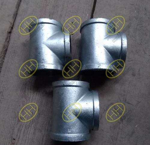Difference between malleable cast iron pipe fittings and galvanized pipe fittings